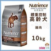 Nutrience紐崔斯『 INFUSION天然高齡體重控制犬 (雞肉)』10kg【搭嘴購】