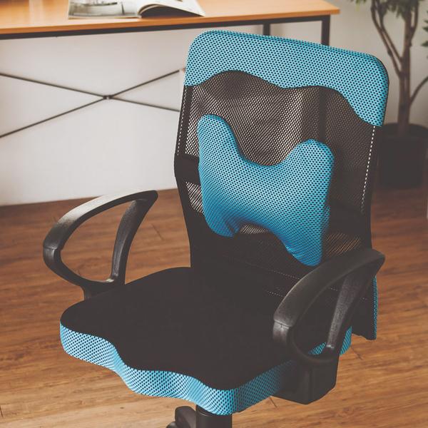 DIY組裝 電腦椅 辦公椅 書桌椅 椅子【I0207-A】厚座高靠背網辦公椅(附腰墊)MIT 台灣製 收納專科