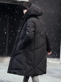 冬季棉衣男中長款韓版連帽羽絨棉服青年加厚保暖外套潮流襖子冬裝