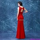 (45 Design)  客製化顏色尺寸領新娘長款婚紗晚宴年會演出主持人禮服15