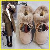 流蘇短靴-雪地靴韓版絨面平底防滑短筒棉鞋時尚加絨保暖流蘇靴