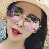 新款時尚太陽鏡女韓版潮復古原宿風墨鏡網紅眼鏡圓臉防紫外線       智能生活館