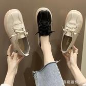 超火小白鞋女2020夏季百搭單鞋復古一腳蹬懶人鞋舒適平底工作鞋 yu13334【棉花糖伊人】