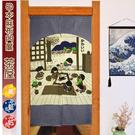 【LASSLEY蕾絲妮】日本門簾-麻布茶...