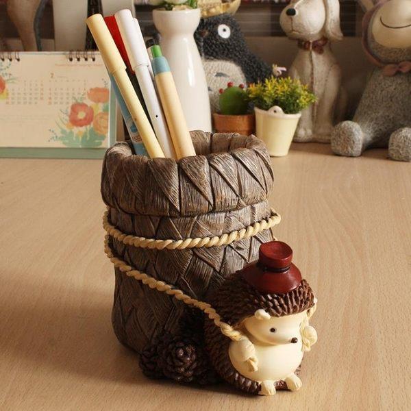 創意時尚筆筒韓國小清新可愛簡約學生兒童生日禮物卡通多功能筆桶   LannaS