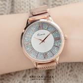 [磁吸錶帶]KIMIO冰鑽羅馬刻度磁吸金屬米蘭鍊帶手錶【WKI6375】璀璨之星☆