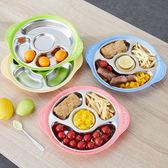 【中秋好康下殺】兒童餐盤304不銹鋼寶寶分格餐盤兒童餐具分隔格碗餐盤嬰兒盤三格分菜盤子