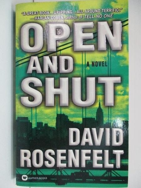 【書寶二手書T5/原文小說_A2Y】Open and Shut_David Rosenfelt