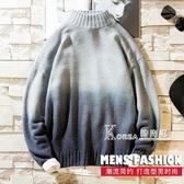 秋冬季半高領男士毛衣潮流寬松針織衫外套青少年學生情侶秋裝上衣 Korea時尚記