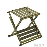 摺疊凳子戶外便攜小馬扎凳子靠背釣魚椅小凳子家用摺疊椅子小板凳 蘇菲小店