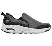 Skechers Air-cooled Arch Fit [232043CCBK] 男鞋 運動 健走 休閒 懶人 灰