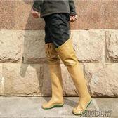 店長推薦夏季過膝高筒男女雨鞋雨靴平底軟水田鞋襪插秧鞋捕魚鞋涉水下水鞋【潮咖地帶】