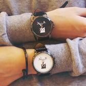 情侶手錶一對韓版潮流行男中學生休閒皮革原宿風復古簡約可愛女生限時促銷!