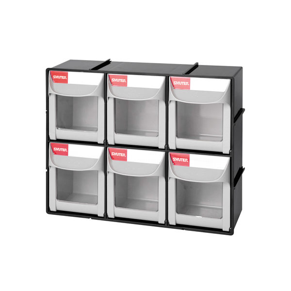【nicegoods】雙層6格快掀式分類盒(6中格) (工作盒 分格盒 收納盒 樹德)