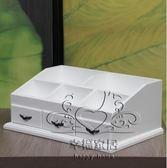 (雙12購物節)化妝品收納盒大號梳妝盒木質桌面整理儲物箱歐式梳妝抽屜櫃免組裝xw