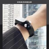 小米手環帶小米手環3/4錶帶可愛個性潮nfc版替換腕帶硅膠男女生情侶款 麥吉良品