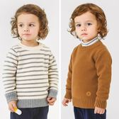 男童套頭加絨加厚針織衫秋冬裝秋裝童裝寶寶兒童毛衣1歲3小童0潮
