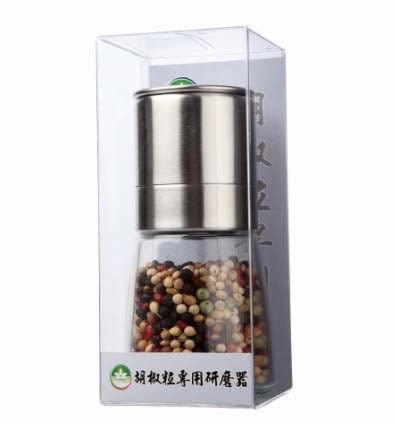 隆一 胡椒粒專業研磨器(不鏽鋼) (內含五彩胡椒粒)