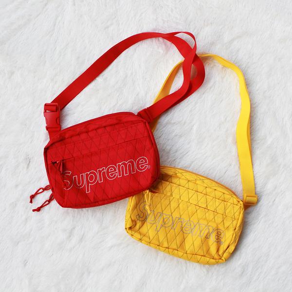 【現貨】CLSK- Supreme Shoulder Bag 2018 45th 小肩包 小包 Logo 黃紅 銀標 休閒 運動 側背 SB001