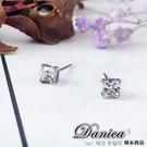 耳環 現貨 專櫃CZ鑽氣質微鑲唯美公主方塊4MM單鑽 八心八箭耳環 S1204 批發價 Danica 韓系飾品