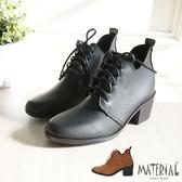 短靴 方頭簡約綁帶短靴 MA女鞋 T9392