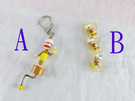 【震撼精品百貨】Curious George _好奇的喬治猴 ~吊飾鎖圈-旋轉/三隻猴子【共1款】
