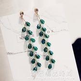 韓國復古流蘇長款耳釘氣質簡約水晶歐美個性耳墜耳環耳飾裝飾品女