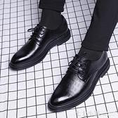 商務男鞋正裝休閒鞋英倫潮流軟底鞋子內增高韓版皮鞋男士夏季