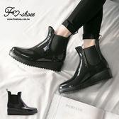 靴.英式潮流經典素面卻爾西雨靴-FM時尚美鞋.Fresh