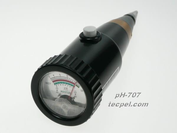 泰菱電子◆酸鹼計/ PH計/土壤酸鹼度計與水份計兩用PH707 TECPEL