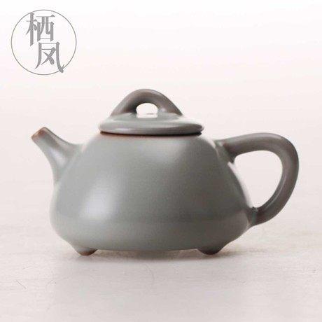 開片汝瓷陶瓷泡茶壺