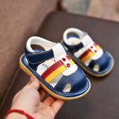 嬰兒防滑軟底學步鞋包頭涼鞋0-1-3歲2兒童鞋