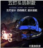 頭燈 頭燈強光充電超亮頭戴式感應手電筒夜釣魚燈米氙氣燈防水LED戶外 快速出貨