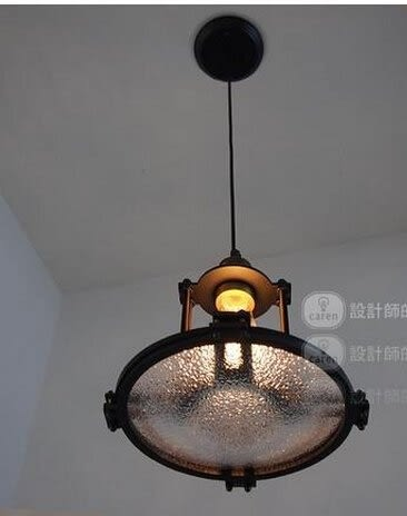 設計師美術精品館美式複古創意客廳過道走廊陽台閣樓工業風玻璃透鏡吊燈