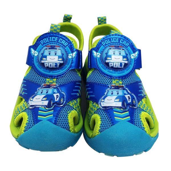 POLI救援小英雄 波力 戶外護趾涼鞋 電燈涼鞋 童鞋 正版授權 日月星媽咪寶貝館