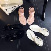 限時498兩雙 羅馬涼鞋.夾腳果凍涼鞋平跟平底涼拖沙灘鞋