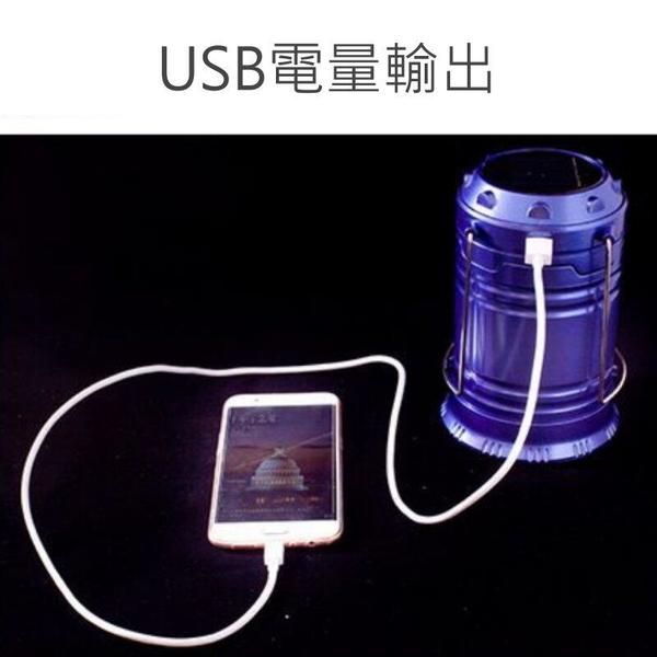 【GG436】超亮LED太陽能燈+手電筒 露營燈 緊急照明應急燈 USB 太陽能探照燈 EZGO商城