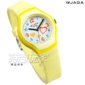 JAGA 捷卡 繽紛時尚 俏皮甜心 心心相印 防水 指針錶 學生錶 女錶 4