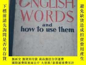 二手書博民逛書店ENCLISH罕見WORDS and how to use th