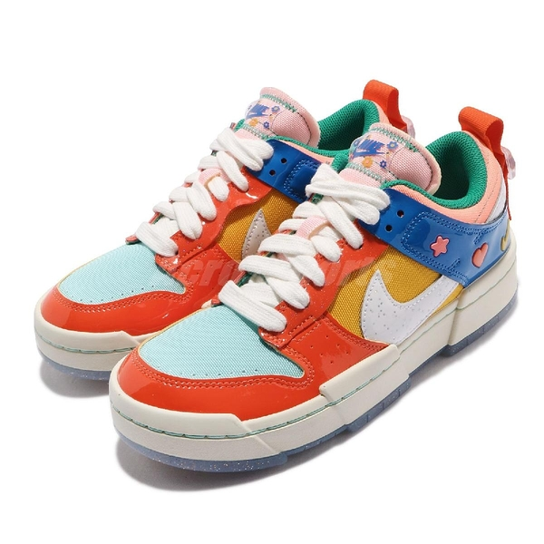 Nike 休閒鞋 Wmns Dunk Low Disrupt 彩色 女鞋 Kid at Heart 解構 厚底 【ACS】 DJ5063-414