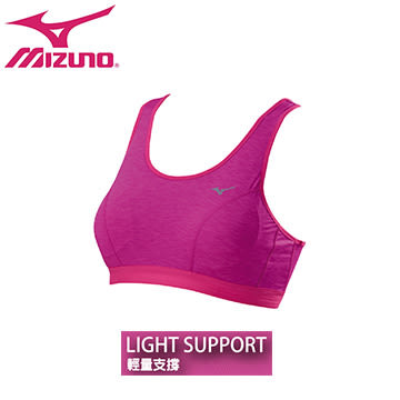 【美津濃 MIZUNO】女 運動內衣 輕量支撐 麻花材質 包覆 彈性 - K2TA670967(紫紅)[陽光樂活]