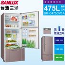 SANLUX台灣三洋475L變頻三門電冰箱 SR-C475CV1A~含拆箱定位