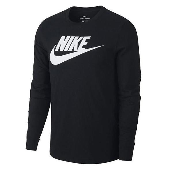 【現貨】]Nike Sportswear 男裝 長袖 純棉 經典 大勾 LOGO 印花 黑【運動世界】CI6292-010