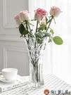 歐式簡約大號玻璃透明花瓶客廳擺件插花水培【淘夢屋】