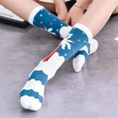 襪子女中筒襪冬季薄款可愛日繫百搭小腿襪個性ins潮街頭 交換禮物