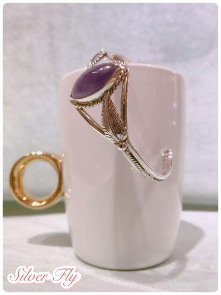 《 SilverFly銀火蟲銀飾 》紫水晶純銀手環