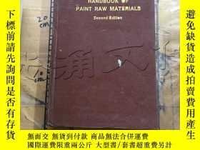 二手書博民逛書店Handbook罕見of paint raw materials