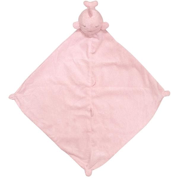 美國Angel Dear 動物嬰兒安撫巾 粉色鯨魚