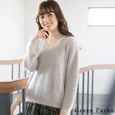 ❖ Hot item ❖ 可愛羽毛感V領針織上衣 - Green Parks