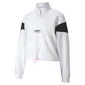 PUMA 女款白色流行系列TFS半開襟立領衫-NO.59774802